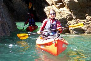 Sea kayak tours in Jersey