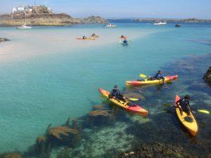 Sea kayak tours at les Écréhous