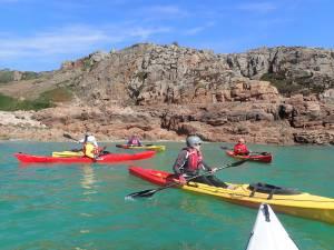 kayaking near Corbiere